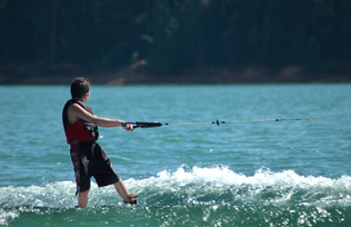Wakeboarding at Shaver Lake